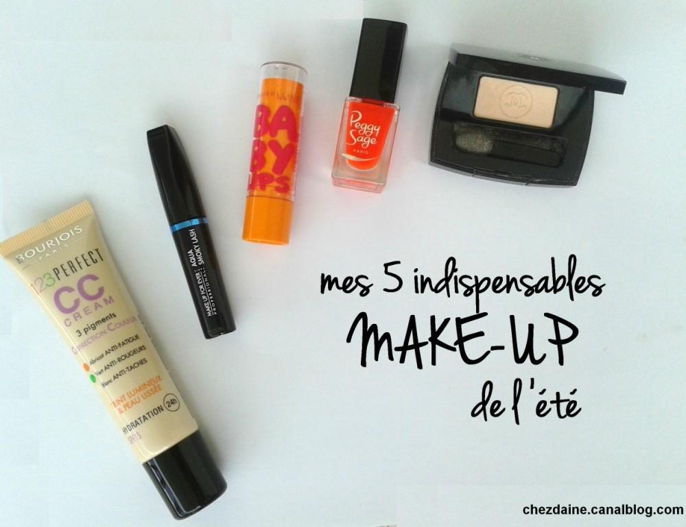 Mes 5 indispensables make-up de l'été