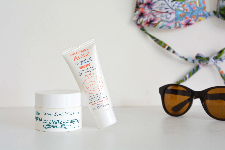 routine-soins-visage-summer-ete-nuxe-creme-fraiche-beaute-avene-hydrance-spf