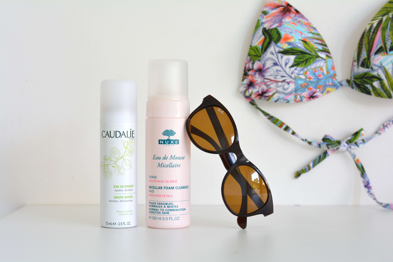 routine-soins-visage-summer-ete-nuxe-mousse-micellaire-caudalie-eau-raisin