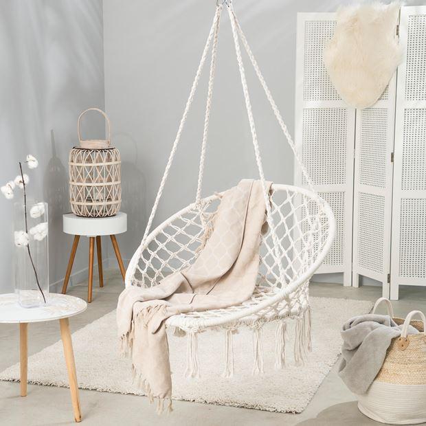 cadeau fete mères 2018 tendance maison chaise suspendue macramé
