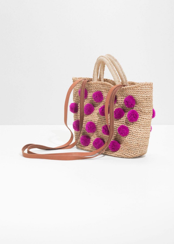 cadeau fete mères 2018 mode sac panier pompons